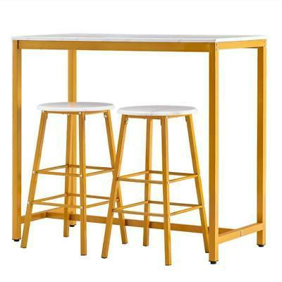 3 Piece Bar Stools Table Dining Sets Furniture