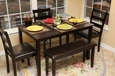 home life 5pc dining dinette table chairs