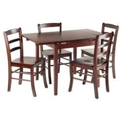 Winsome Home Pulman 5-Piece Set Extension Table with Ladder