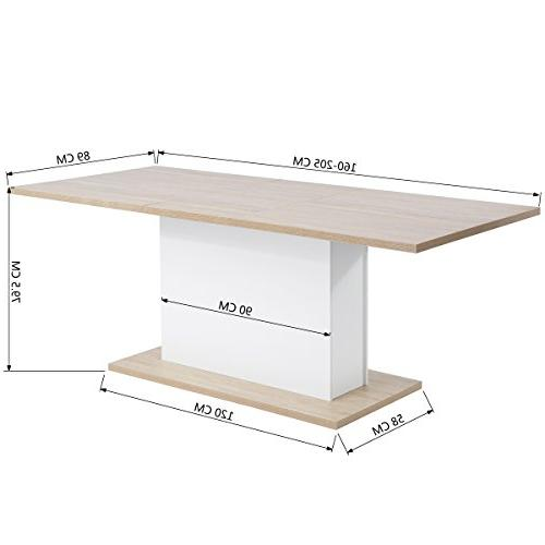 Extendable Rectangular Mltifunction Space Saving Wood Table