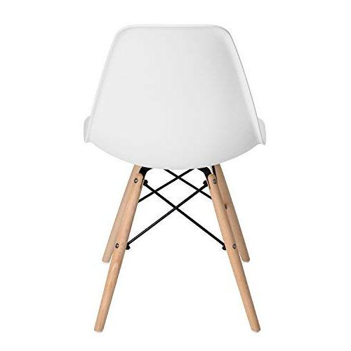 DSW Style Mid Century Side Dining Plastic Cover Natural