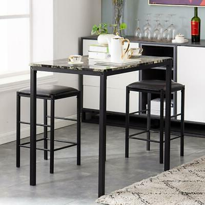 hot 3 piece dining table set counter