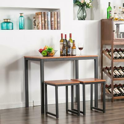 Hot 3 Counter Dining Set Table and Kitchen Bar New
