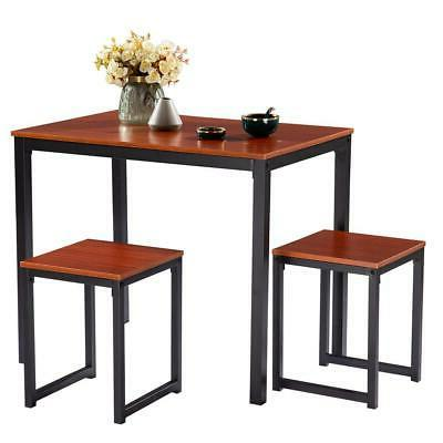 Hot 3 Piece Counter Height Table 2 Chairs Kitchen