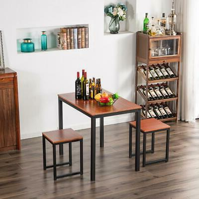 Hot 3 Piece Metal Counter Height Table Chairs Kitchen Bar