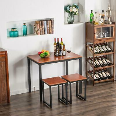 hot 3 piece metal counter height dining