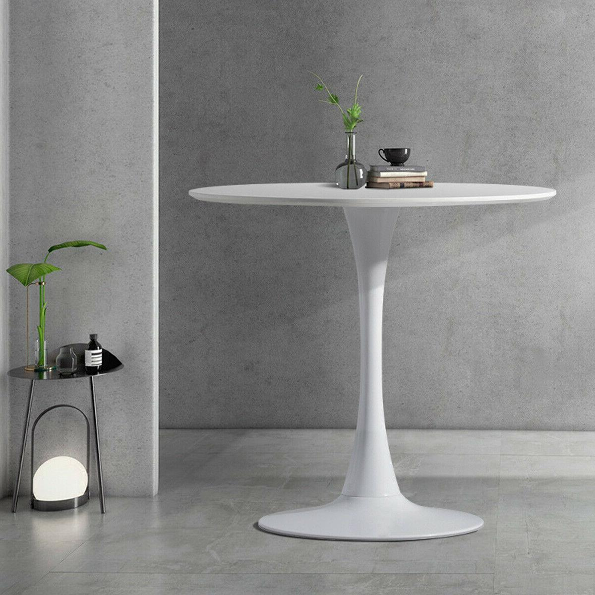 """32"""" Round Dining Table in White Elegant"""