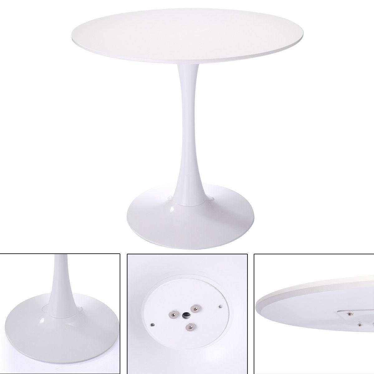 """32"""" Inch Tulip Dining Table Coffee in White"""
