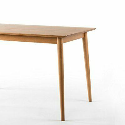 Zinus Wood Dining Table Natural