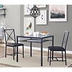 Dining Table Set for 2 Chairs 3 Piece Kitchen Room Furniture