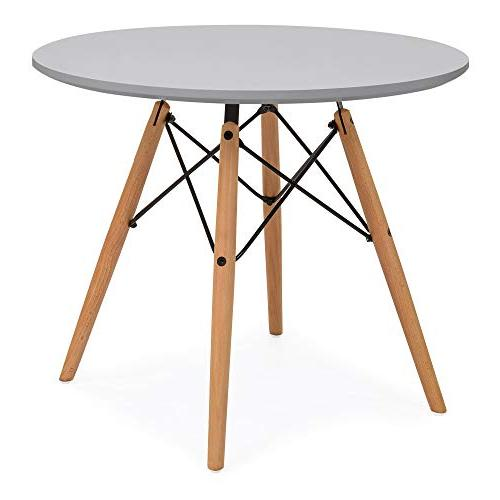 Best Choice Products Kids Mid-Century Modern Dining Table Set Wood Chairs Gray