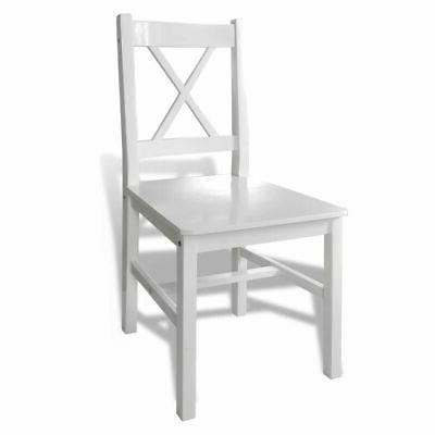 vidaXL Wooden Furniture Seat and Chairs White/Brown✓