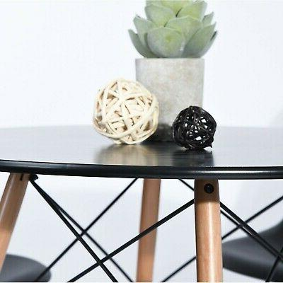 Kitchen Dining Table Coffee Black Modern Leisure Wood ...