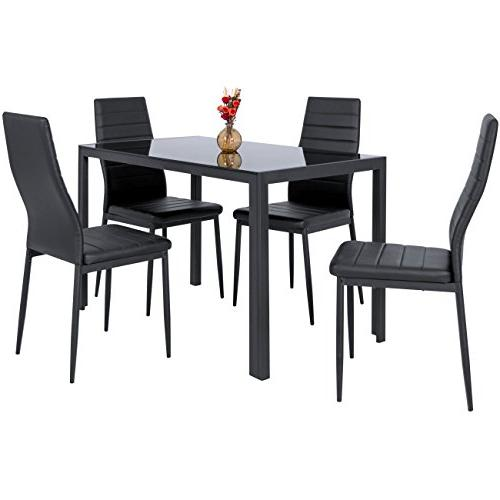Best Choice Products 5 Piece Kitchen Dining Set Top and 4 Chairs -