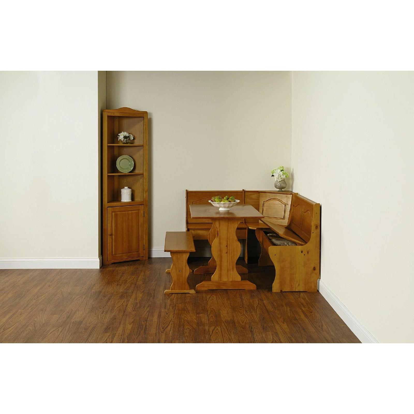 Kitchen Nook Wood Corner Dining Breakfast Table L