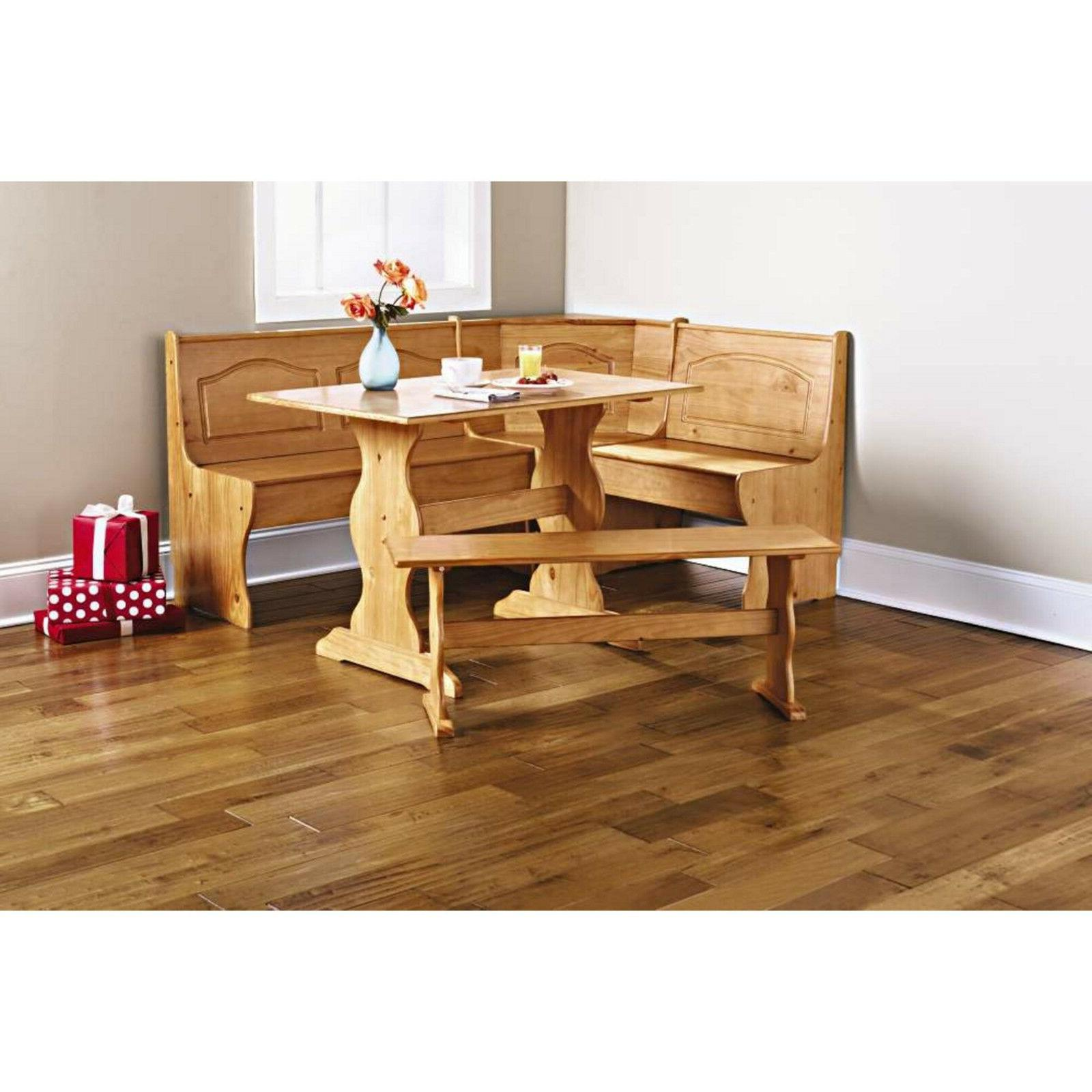 Kitchen Solid Corner Breakfast Table Bench L