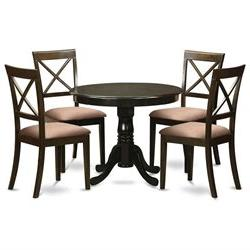 5 Piece small kitchen table and chairs set-round table and 4