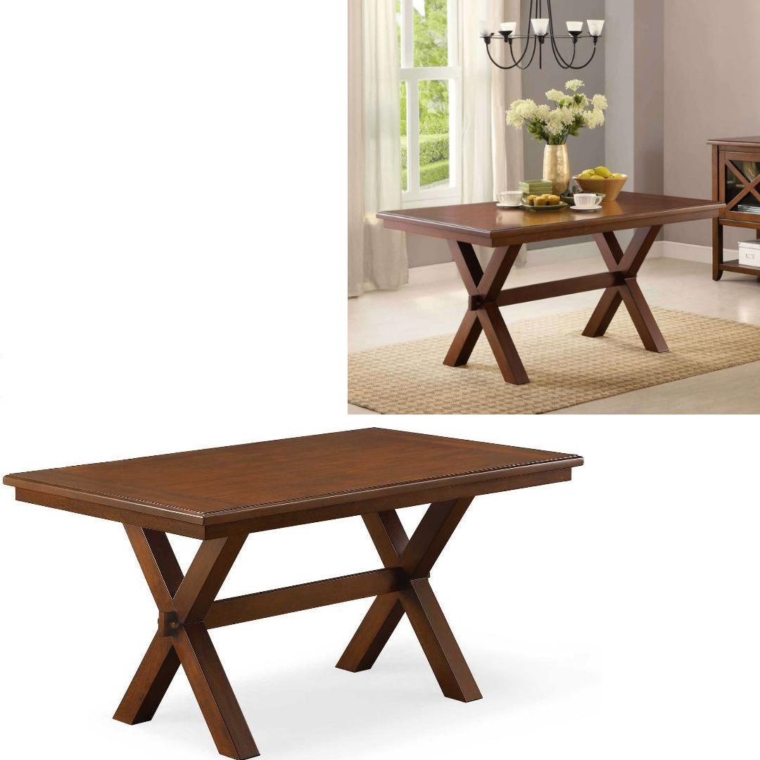 Small Kitchen Table Dining Breakfast Nook Wood Metal Legs Fa