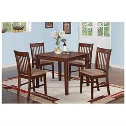 5 Piece kitchen table set - square Table and 4 dining chairs