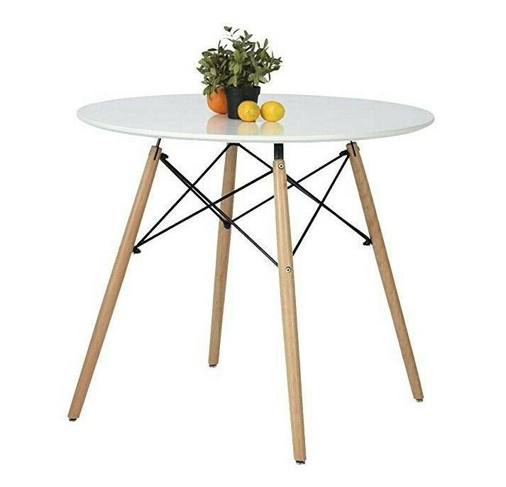 Kitchen Dining Table White Round Coffee Table Modern Leisure