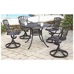 Largo 5 Piece Dining Set with 42 Table and 4 Swivel Chairs