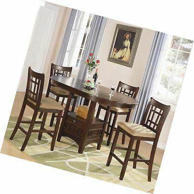lavon 5 piece storage counter table dining