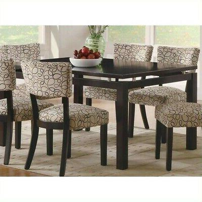 libby contemporary cappuccino finish dining