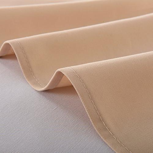 HIGHFLY Rectangle 60 X Waterproof Beige Tablecloth Dining room