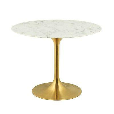 lippa 40 round dining table with gold
