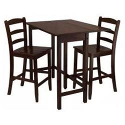 Lynnwood 3pc Drop Leaf High Table with 2 Counter Ladder Back