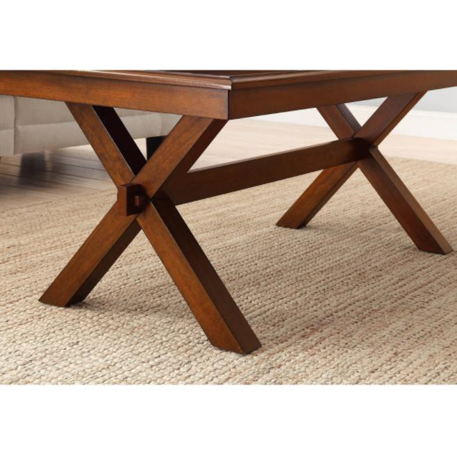 Maddox Crossing Cognac Wood Dining Accent Decor