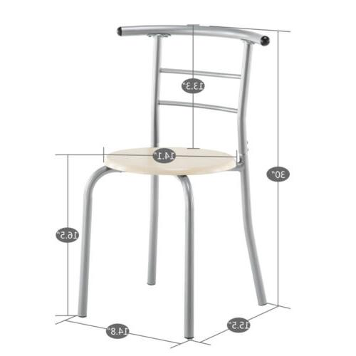 3 PCS Bistro Set and Chairs Kitchen Furniture Home 3 Color US