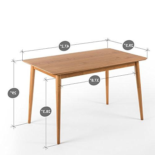Zinus Mid-Century Wood Dining Table Natural