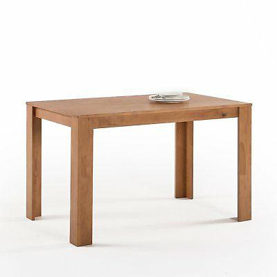 mission wood dining table