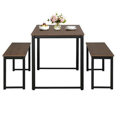 Modern Set Soho Dining Two Benches