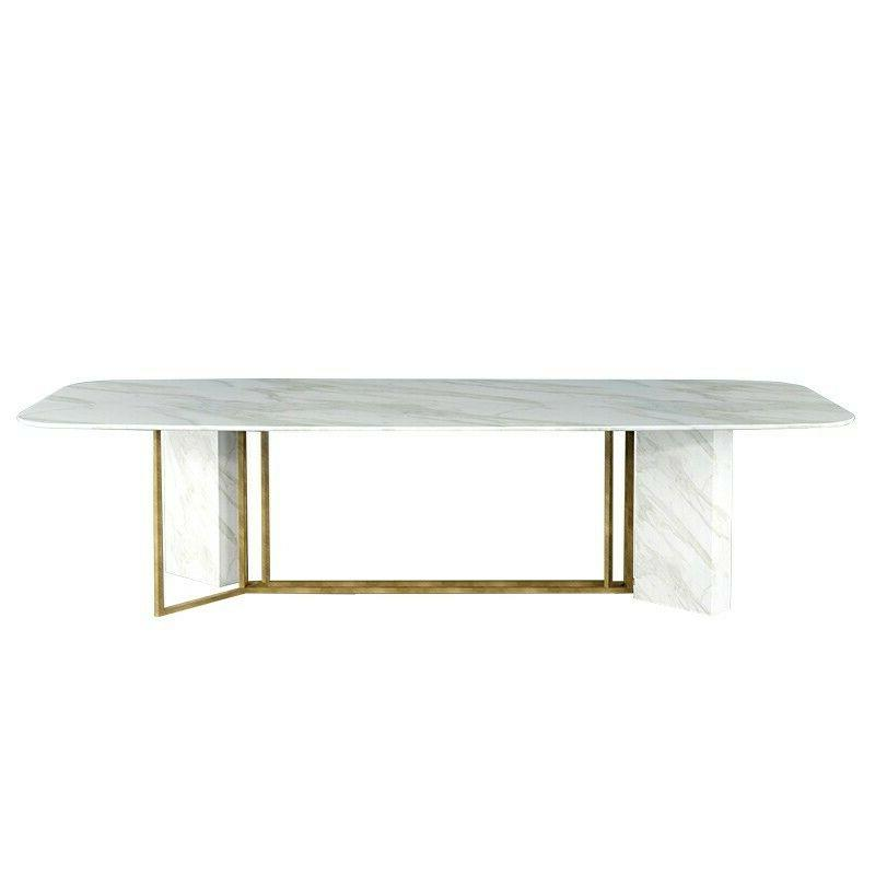 """Homary 79"""" Faux Marble 6-8 Brushed Gold"""