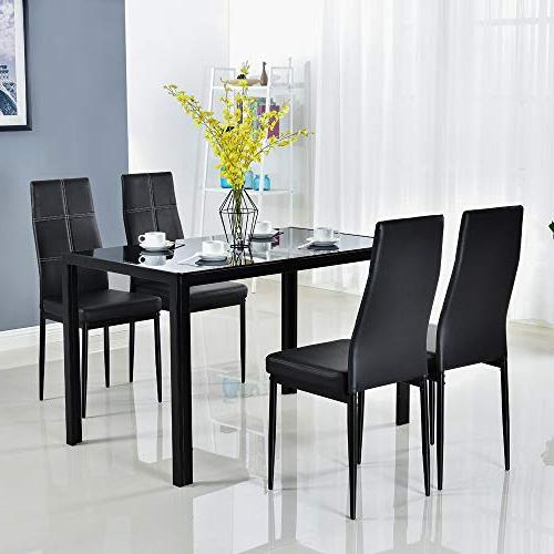 modern dining table set glass