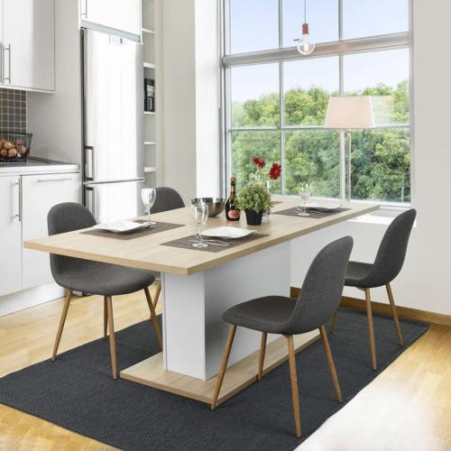 Modern Dining Table Extendable 4-8 Seaters High