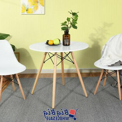 Modern Round Dining Table Adjustable Wooden