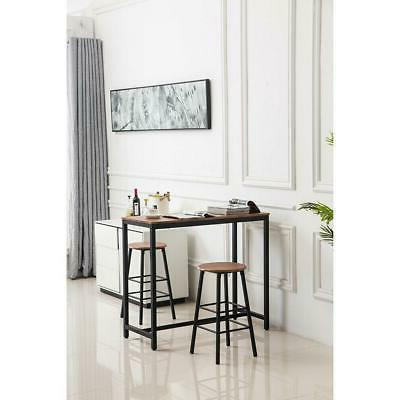 3 Piece Bar Stools Pub Counter Chairs Brown