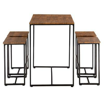 NEW 5 Dining Set W/ 4 Room Brown