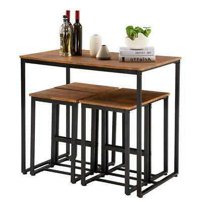 NEW 5 Piece Dining Table Set 4 Kitchen Furniture US