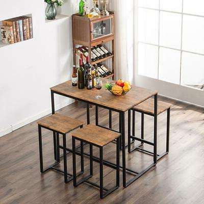 new 5 piece wood dining table set