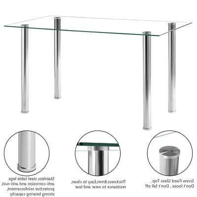 Hot Piece Table Glass Metal Furniture White
