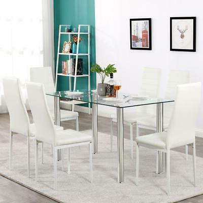 Hot Table Set 6 Chairs Furniture White