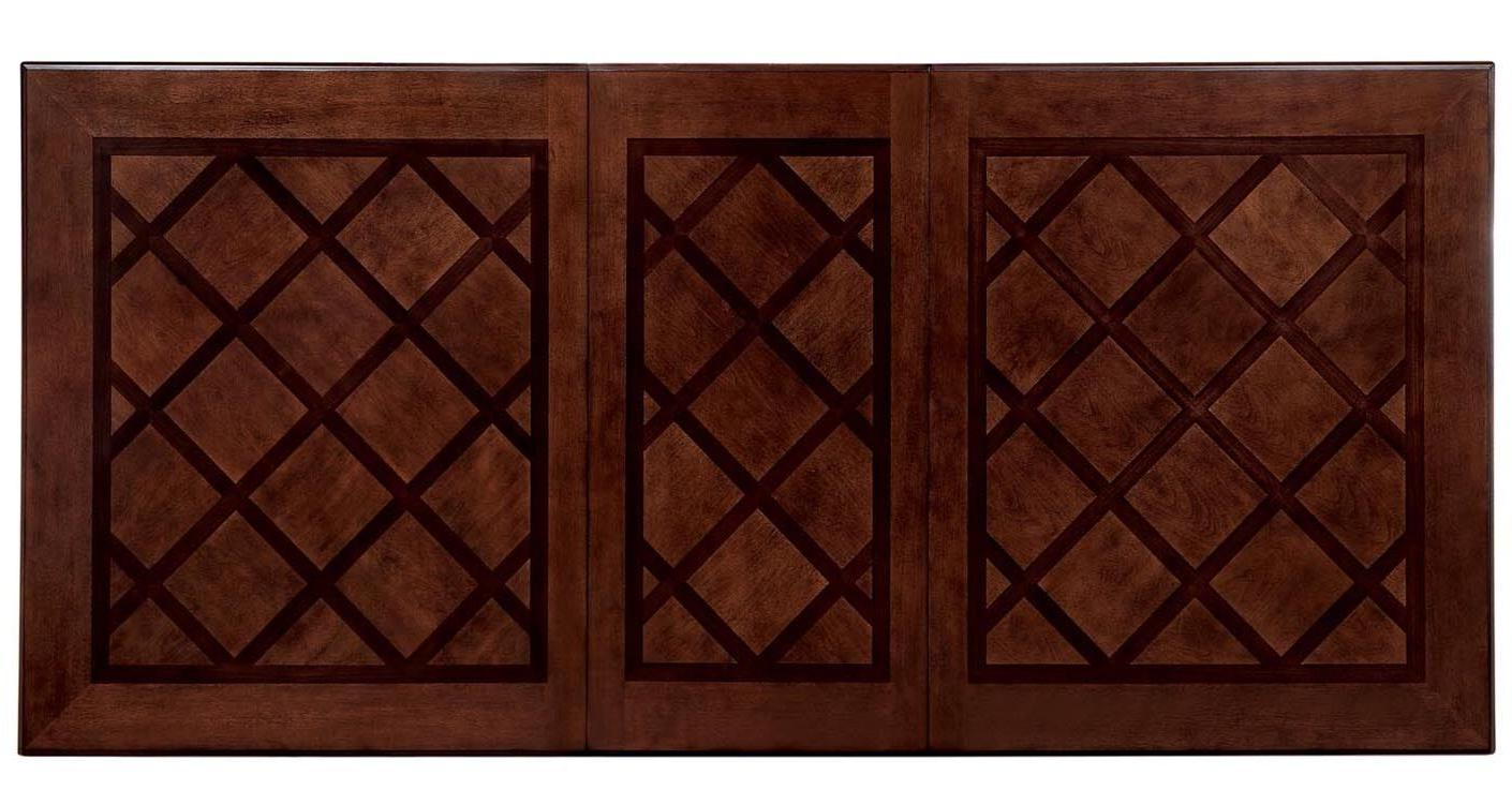 NEW 9PC LORDBOURG FORMAL TRADITIONAL BROWN CHERRY LEATHER WOOD