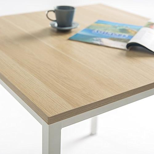 Zinus Studio Collection Square Table, White
