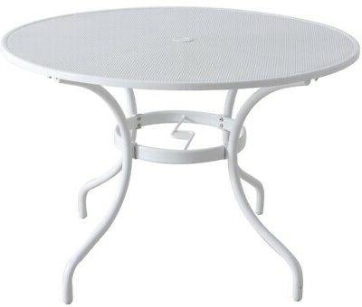 outdoor dining table round umbrella hole steel