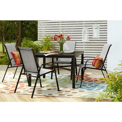 Outdoor Table Slat Black Square 4-5 Person