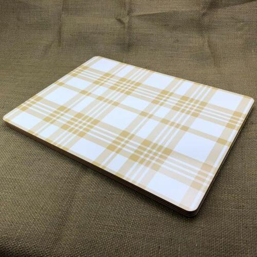 Pack of Plaid Kitchen Placemat in Brand New